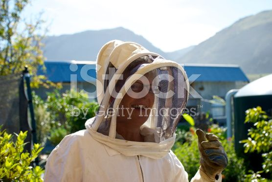 Senior Female Beekeeper royalty-free stock photo
