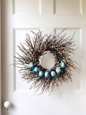 Easter wreath. So cute!