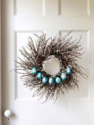 Door BelleDecor, Crafts Ideas, Wreath Ideas, Easter Wreaths, Easter Eggs, Wreaths Ideas, Spring Wreaths, Eggs Wreaths, Twig Wreaths