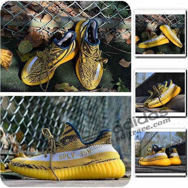 adidas yeezy boost 350 v2 nouvelle chaussure homme jaune blanche noir aditrace