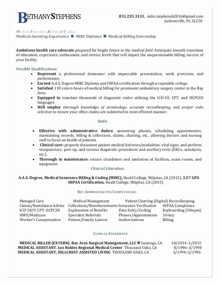 Job Description of Medical Billing and Coding Specialist