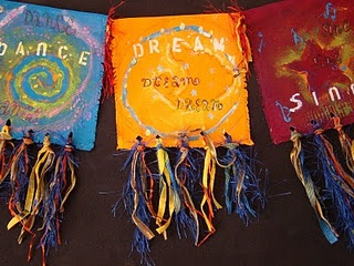 Prayer flags with tassels