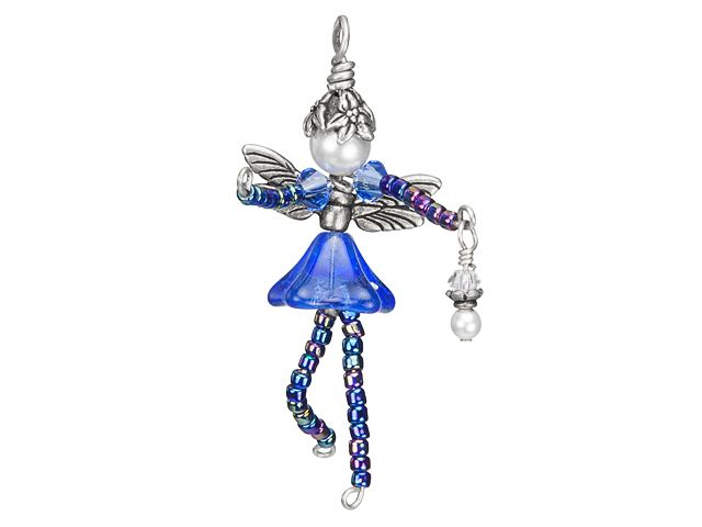 Fairy Charm Kit- Patriotic from artbeads.com (substitute red beads for shoulders and pearl drop)