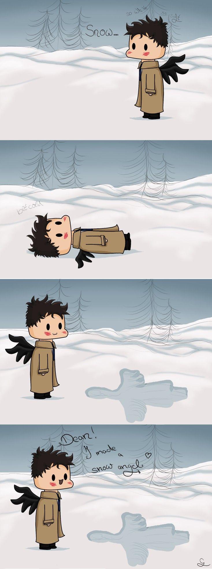 Little comic for you guys #spn #supernatural #comic #destiel #castiel