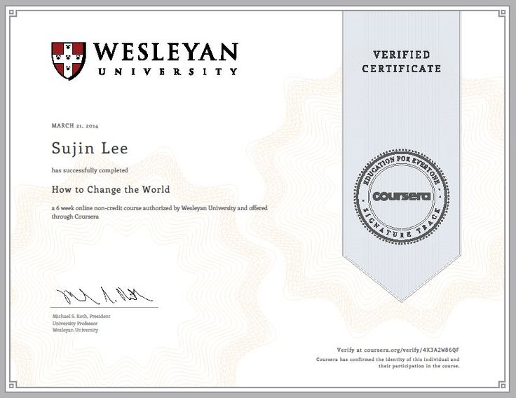How to Change the World - Coursera - Wesleyan
