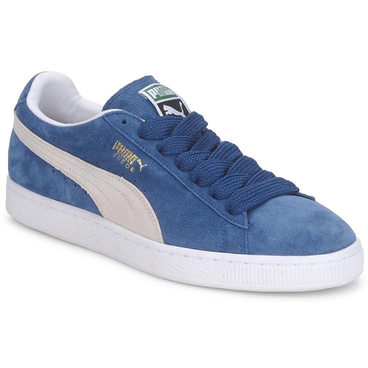 Baskets Puma SUEDE CLASSIC Bleu / Blanc - Livraison Gratuite avec Spartoo.com ! - Chaussures Homme 79,99 €