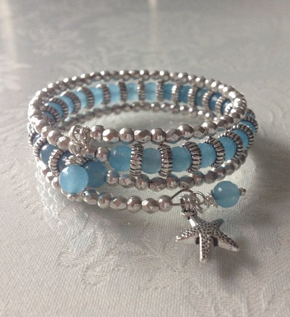 love this. easy memory wire bracelet.