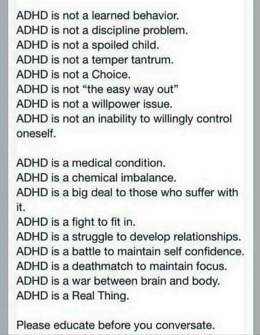 28 best images about ADHD on Pinterest | Poster, Student and See world