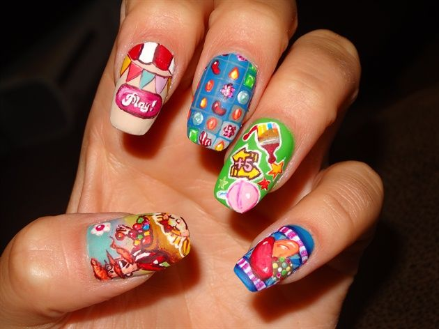 10 Tasty Candy Nail Art Designs - Best 25+ Candy Crush Nails Ideas On Pinterest Gold Nail, Rose