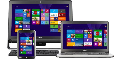 Getting Started Tutorials for Windows 8.1:  Getting online; Microsoft account; Start screen; Getting around; Search, share, print & more; Apps; Email; Browse web; Personalize; SkyDrive