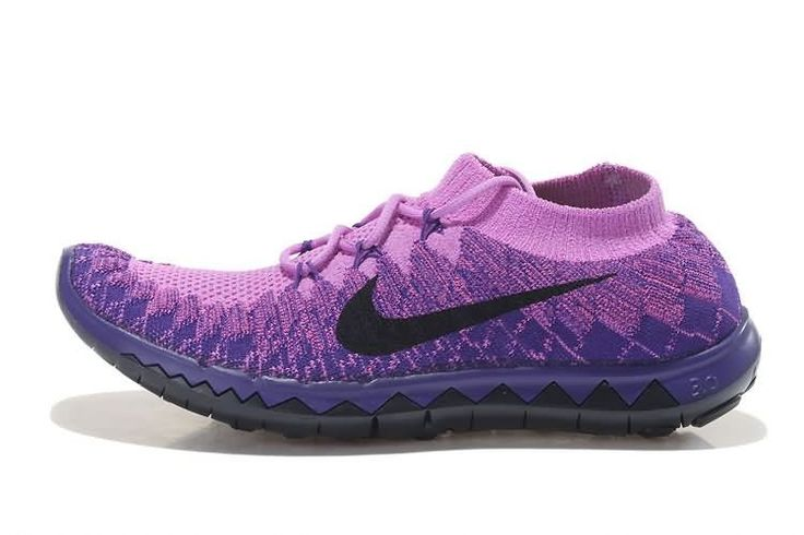 Nike Free 3.0 Flyknit 2014 Naisten Juoksukengät Violetti Musta