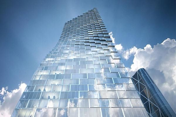 Telus Sky Tower, Calgary, Alberta.  Bjarke Ingels Group (BIG) unveiled designs today for its new Telus Sky Tower in Calgary, Alberta, Canada. The 750,000-square-foot Telus Sky Tower is a faceted, mixed-use residential and office tower that both twists and tapers as it reaches skyward. Deep floor plates optimized for office workspaces on the lower levels gradually give way to more slender floor plates for residences above. Designed with local firm Dialog, the new tower will offer views over…