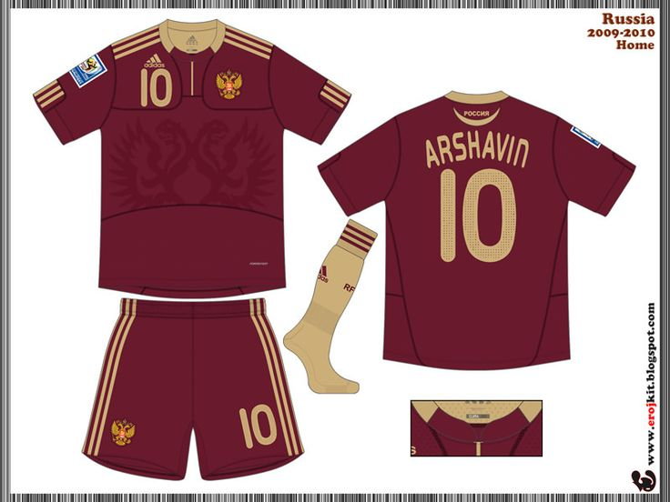 Russia | home jersey | 2008-09