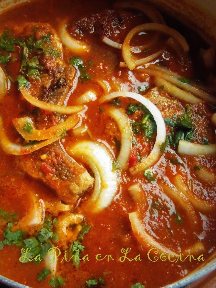 Chuletas de Puerco en Salsa (Pork Chops Braised in a Fresh Tomato Salsa)
