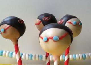 Swimmer cake pops