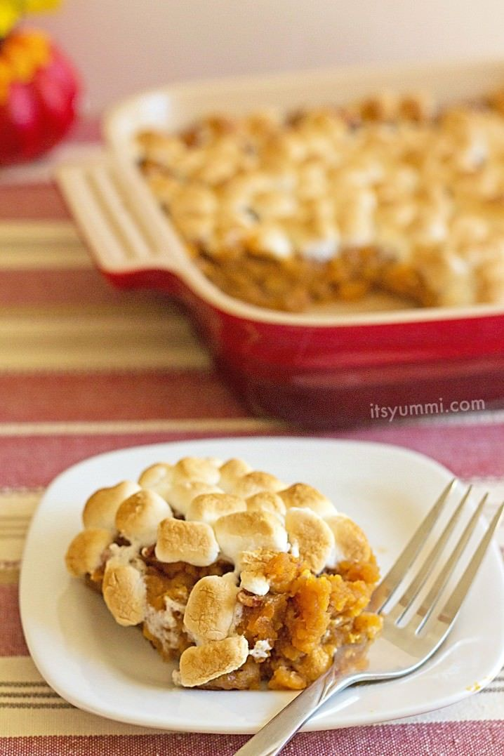 Quick 'n Easy Southern Sweet Potato Casserole (with Marshmallows!) - get the recipe on ItsYummi.com #DGHoliday #ad