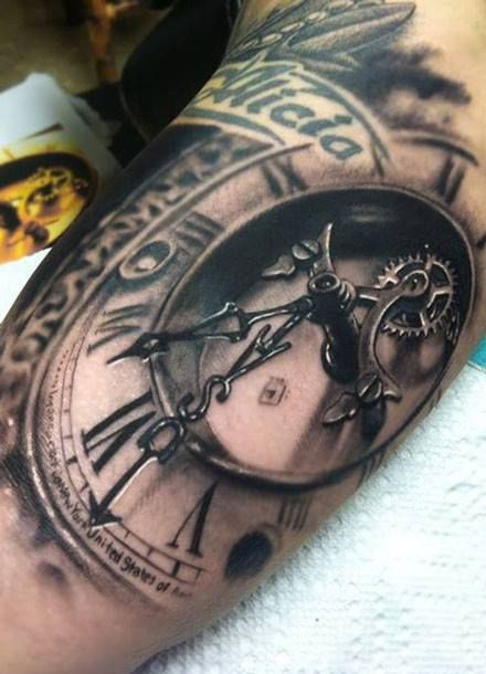 11 of the Most Beautiful, Timely Clock Tattoos!