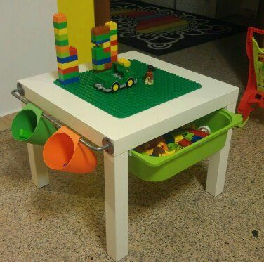 Best 25 lego table ikea ideas on pinterest lego table for Ikea lack lego table