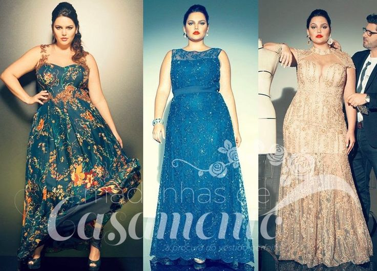Madrinhas de casamento: Os vestidos de festa plus size mais lindos que já vi!