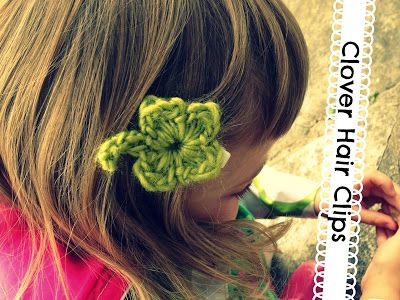 Free Pattern: Clover Hair Clips | Vickie Howell for @Yarnspirations