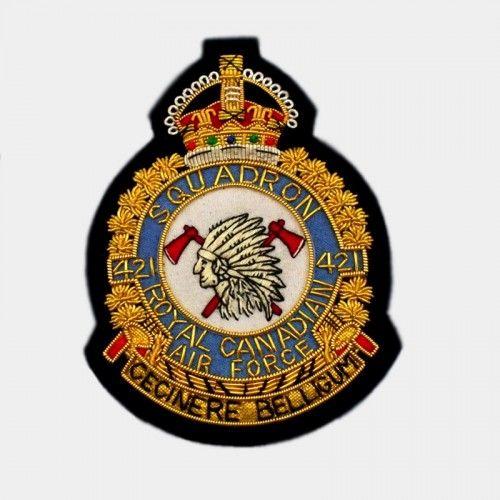 421 Squadron Blazer Badge