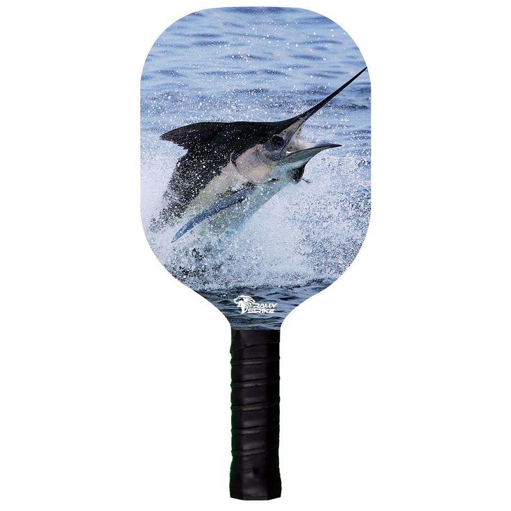 Custom Wooden Pickleball Paddle Marlin Fishing Design (RSW Series)