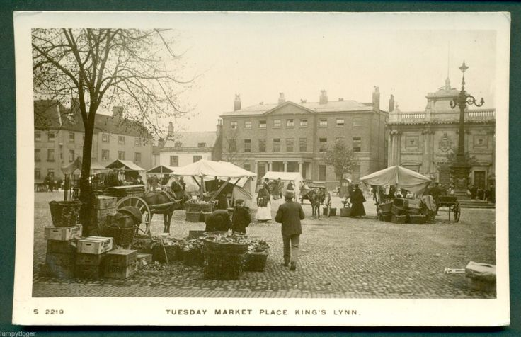 KINGS LYNN,TUESDAY MARKET PLACE WITH MARKET, vintage postcard | eBay