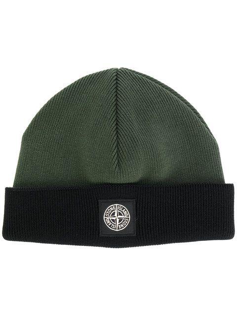 Stone Island classic knitted beanie hat