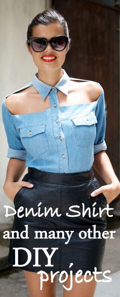 DIY denim shirt