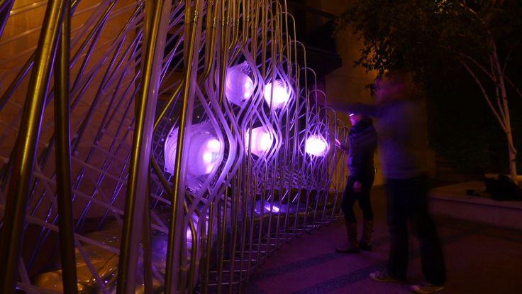 Datagrove at night.     #FutureCitiesLab #architecture #art #interactive