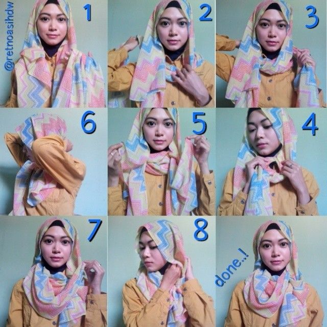 Easy Hijab Tutorial For Students Style