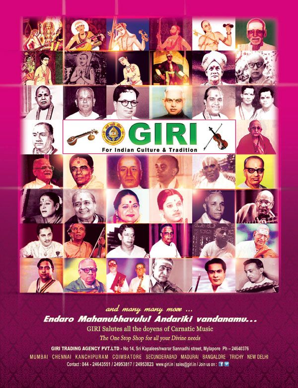 Endaro Mahanubhavulu Andariki Vandanamu... GIRI Salutes all the Doyens of Carnatic Music The One Stop Shop for all your Divine needs