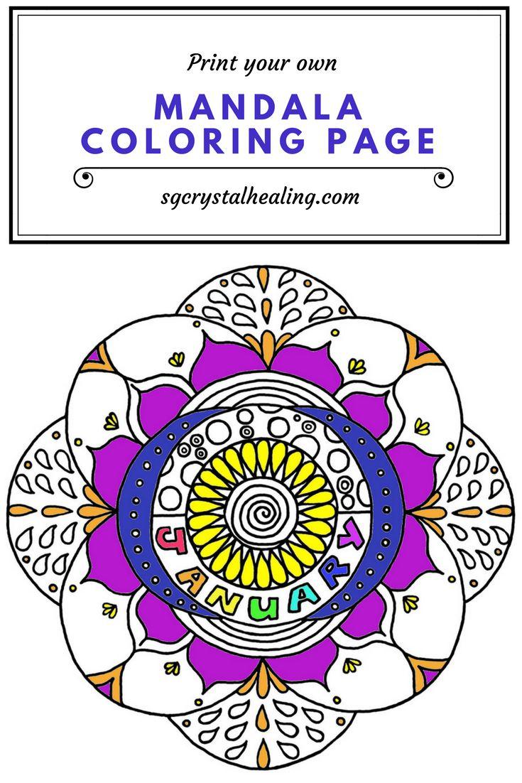Free Printable Mandala Coloring Pages Jan 2018  #coloringpages #mandalas #freeprintables #printables