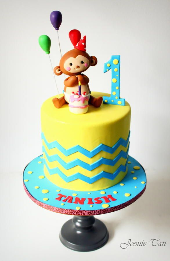 Celebrating Tanish's 1st birthday ! - Cake by Joonie Tan