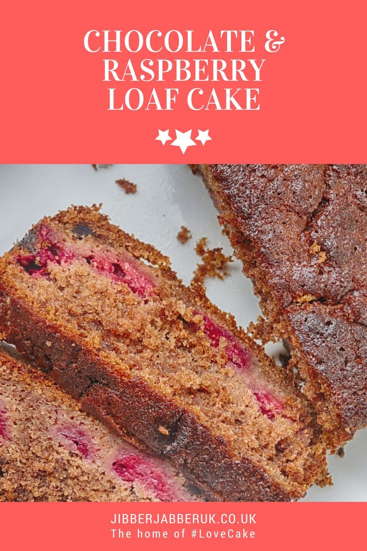 Chocolate and Raspberry Loaf Cake - Fresh raspberries mixed with a lower cocoa cake mixture for the perfect easy bake.