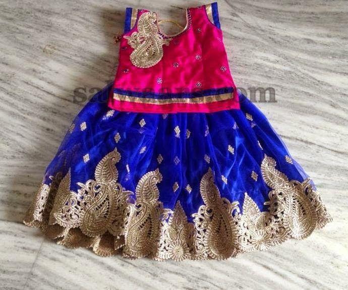 Blue and Pink Lehenga - Indian Dresses