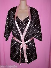 Naughty and Nice Lingerie Famous Maker Plus Size Peggie Polka Dot Chemise & Robe