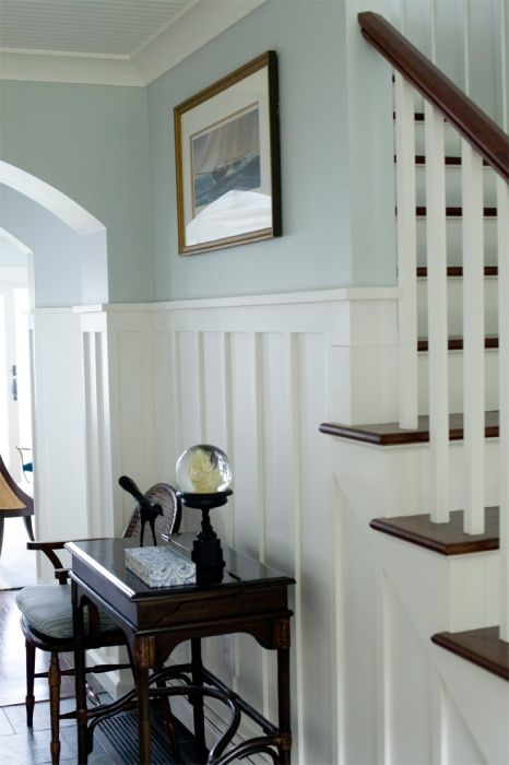 For The Foyer And Stairs Wide Plank Chair Railing
