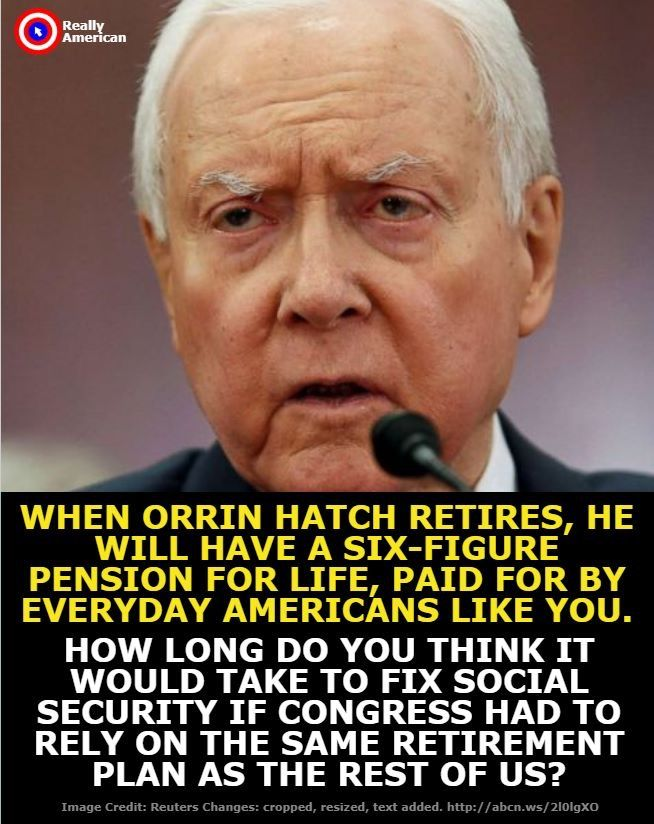 Firstly, Social Security is not broken. Second, it is appalling that Congress can blatantly undermine the support systems of their constituents, and make more money in a year than many people see in a lifetime.