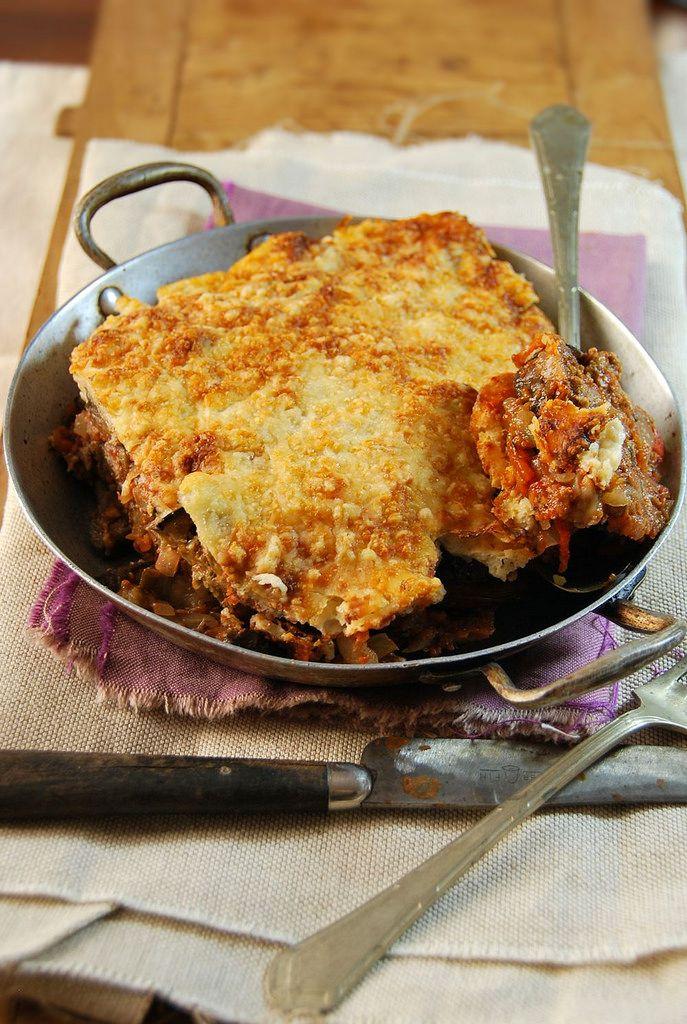 Moussaka - Gratin d'aubergine au boeuf