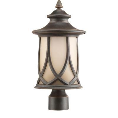 Progress Lighting Resort Collection 1 Light Aged Copper Outdoor Post Lantern