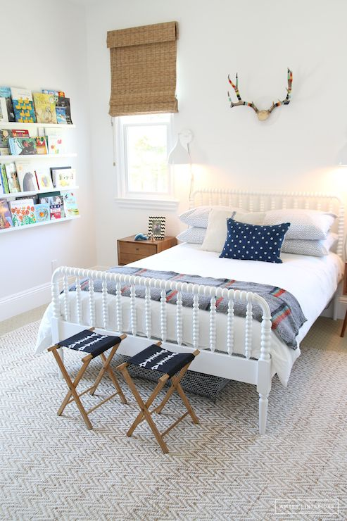 White Jenny Lind Bed, Transitional, boy's room, Amber Interiors
