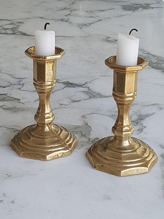 Kerzenhalter Messing Ø 6 cm matt silber