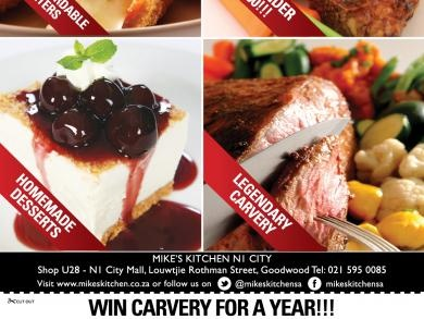Mikes Kitchen N1 City - Win Carvery for a year