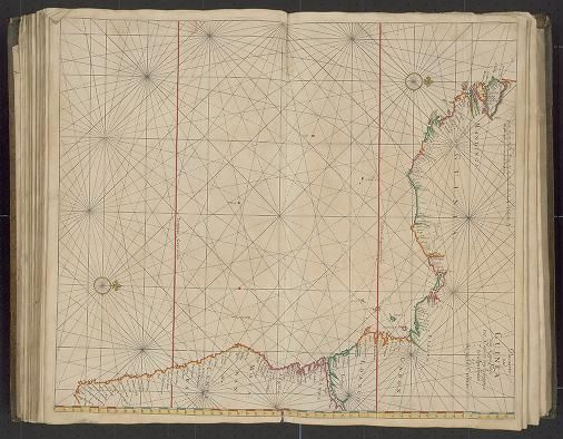 Page 32 Zee-atlas; Colom, Arnold 1656?  Albert and Shirley Small Special Collections Library, University of Virginia. http://search.lib.virginia.edu/catalog/uva-lib:2287415/view#openLayer/uva-lib:2380033/6298/8092.5/1/1/1