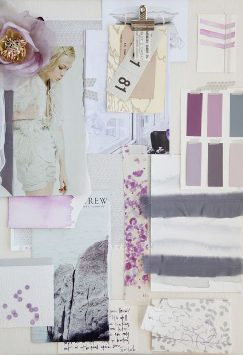 this board is such a contrast to the darker vintage board, the lighter colours are just gorgeous, and I love how there are pain swatches for colour and different prints incorporated in it. this type of tactile mood board is my favourite!!