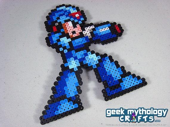 Mega Man Pixel Art Cake