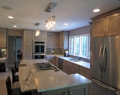 Granite Cooktops with Downdraft Exhaust | Contemporary Eclectic Modern Traditional