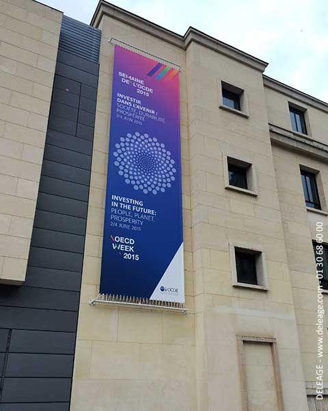 Bâche tendue extérieure au forum 2015 de l'OCDE