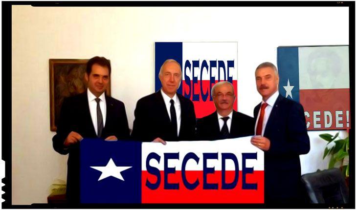 """Ambasadorul SUA la Bucuresti, Hans Klemm, a fost chemat de urgenta la o sedinta foto cu liderii miscarilor secesioniste din Texas (n.r. in imagine steagul secesionist al Texasului). Dupa """"succesul"""" sedintei foto in secuime, ambasadorul american Hans Klemm este asaltat acum cu propuneri similare venite din partea secesionistilor din intreaga lume. Angajatii ambasadei SUA la…"""
